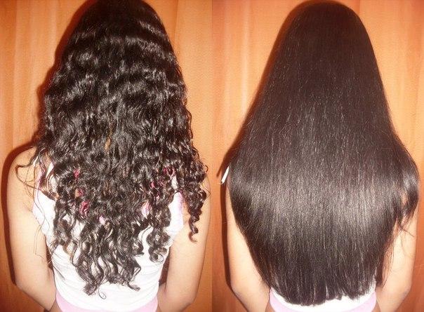 Как сделать волосы гладкими : - территория женских