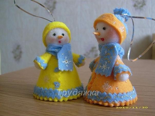Сделать снегурочку своими руками из ткани