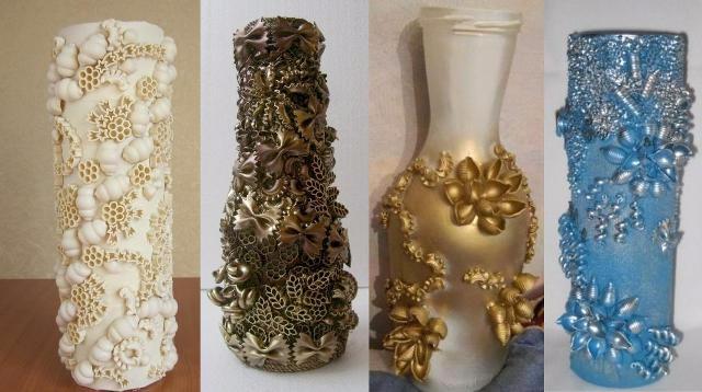 Как сделать красивые вазы своим руками