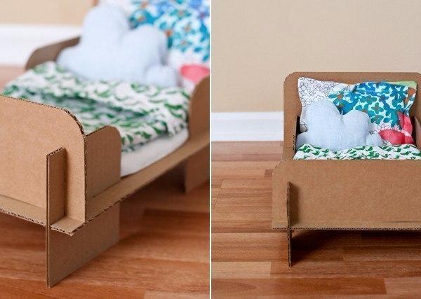 Как сделать своими руками кровать из бумаги для кукол
