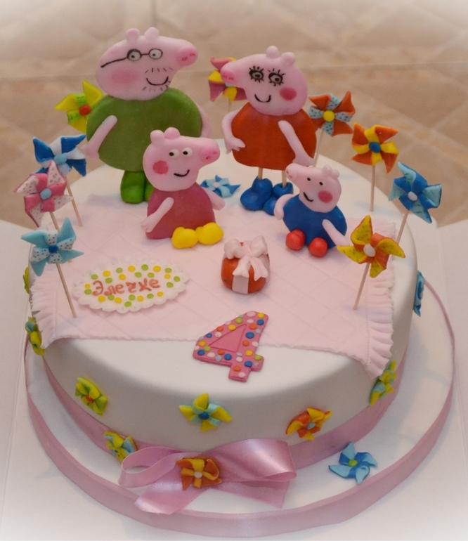 Торт  свинка  Пеппе