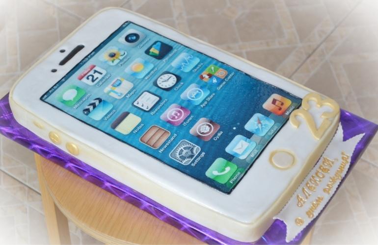 Торт  телефон  айфон