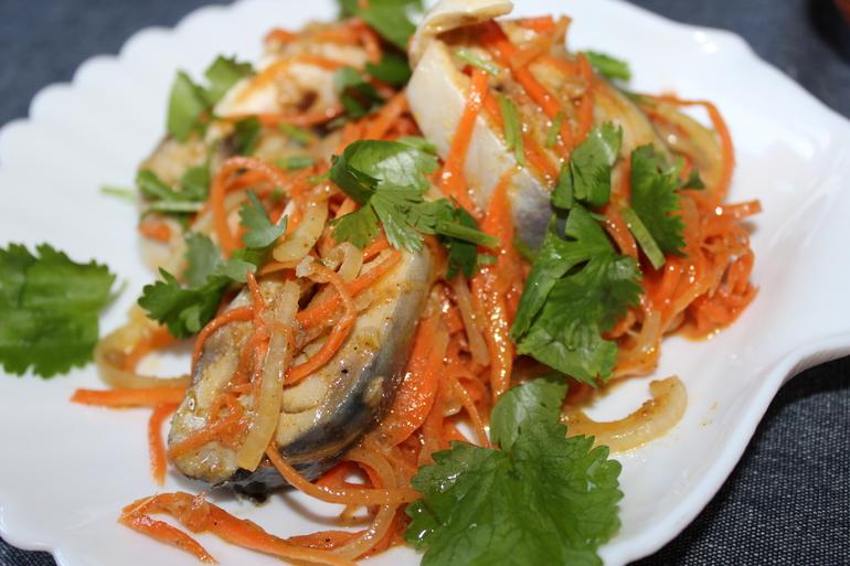 Хе из скумбрии по-корейски с морковью рецепт