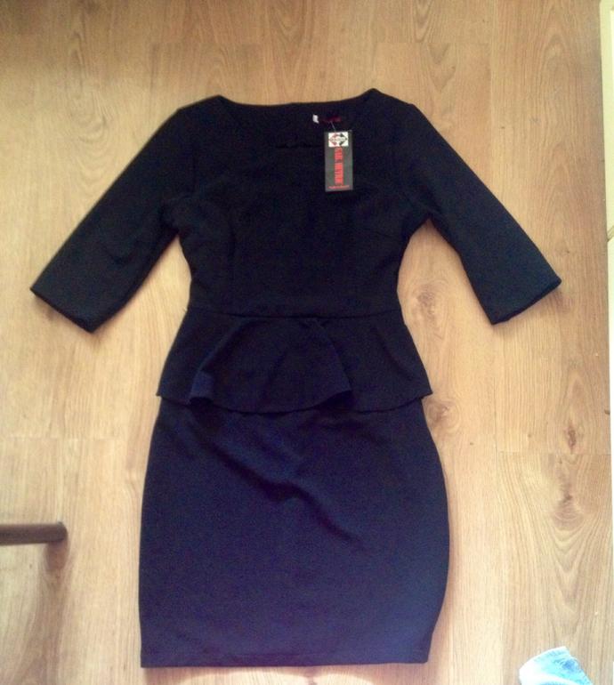 Новое платье с баской. 46-48 р