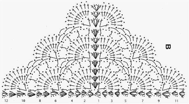 Вязание крючком бактус шаль крючком 13