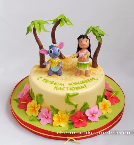 Торты для гавайской вечеринки