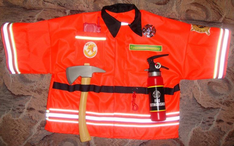Костюм пожарного своими рук 100