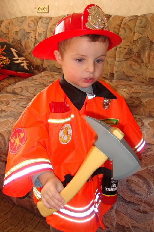 Костюм пожарного своими рук 95