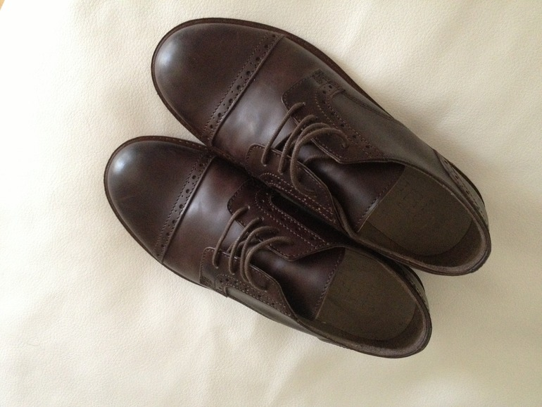Туфли на мальчика, коричневые, Mamino, Италия, размер 33