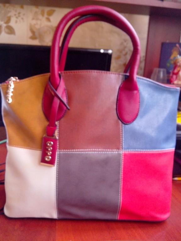 сумка из натуральной кожи со скидкой  1370 руб