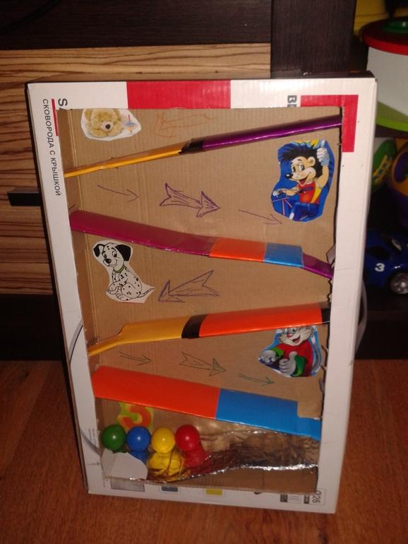 Горка для игрушек своими руками