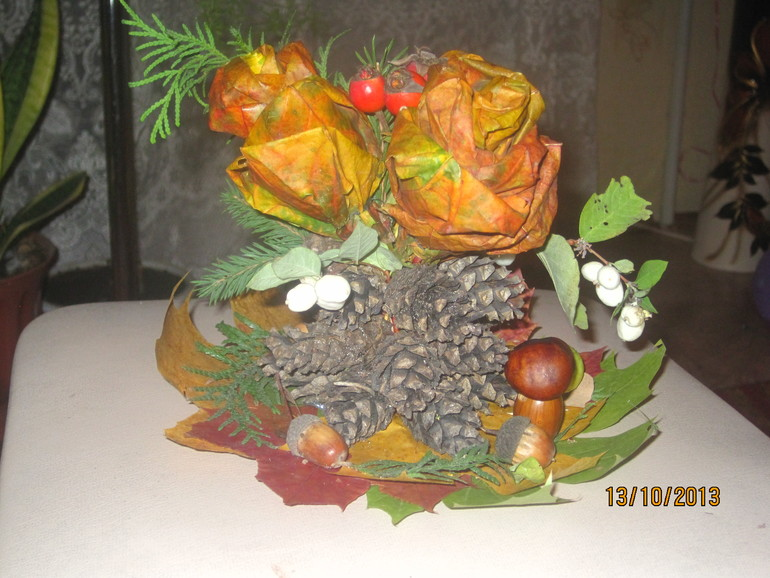Поделка для садика на праздник осени