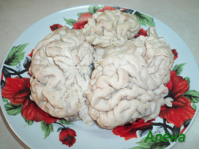 Мозги свиные.