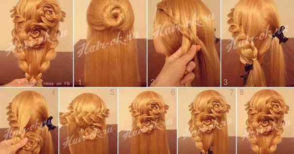 Причёски из косичек на длинные волосы пошагово