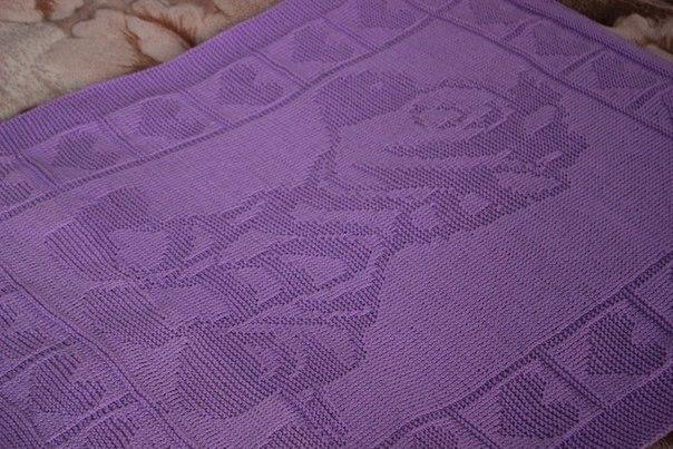Вязание спицы узоры для детского пледа