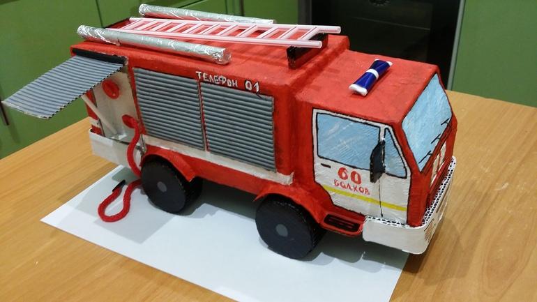 Поделки пожарных машин своими руками 56