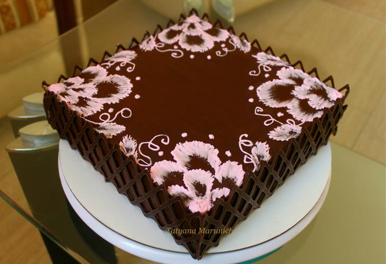 рецепт украшений на торт с фото