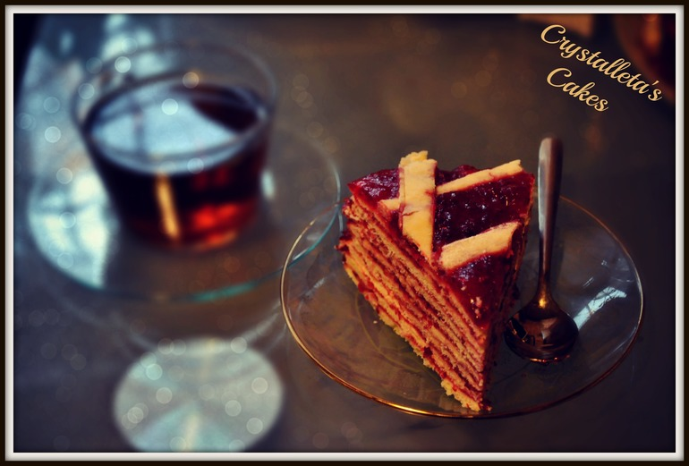 Клюквено - мармеладный пирог )) в моем случае торт)
