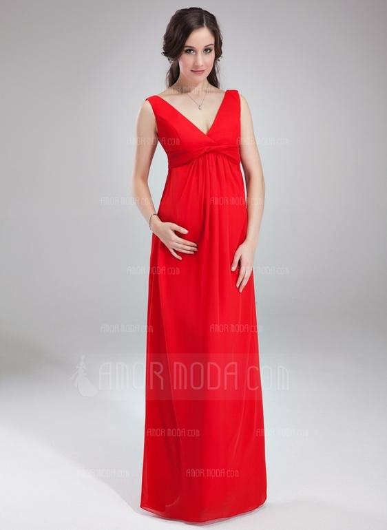 Легкие платья в пол для беременных