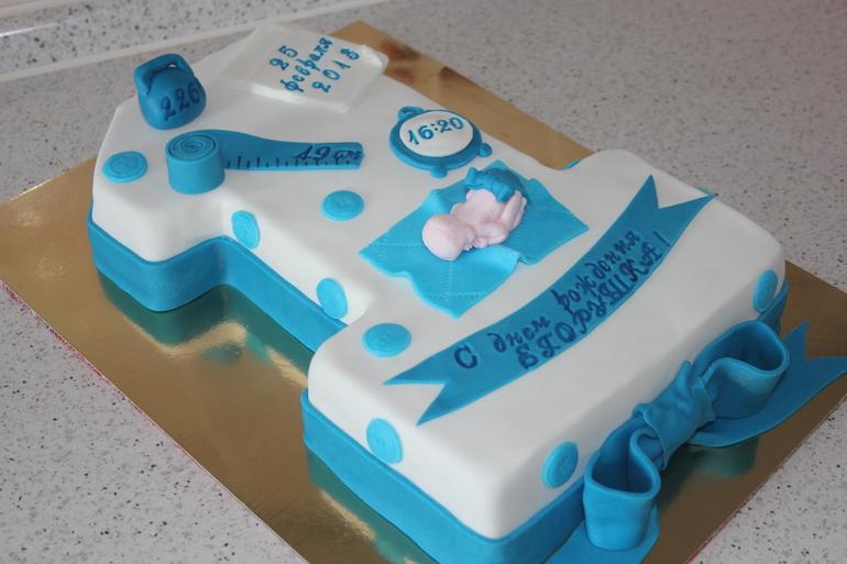 Торт на первый день рождения мальчику без мастики 139