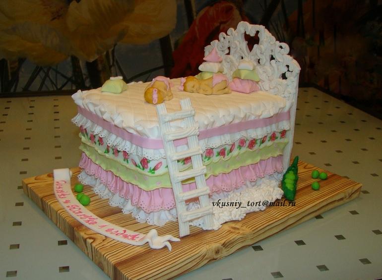 Примеры тортов для двойни, фото