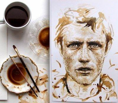 Рисунок из кофе