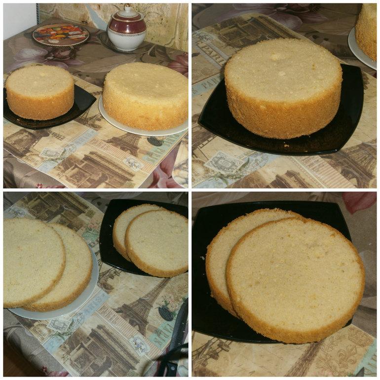как приготовить бисквит на газу