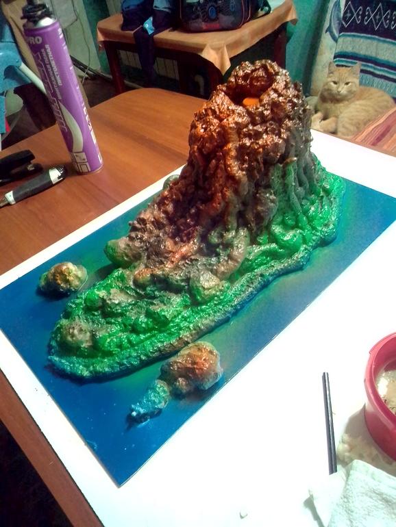 Как сделать макет вулкана своими руками из подручных материалов 371