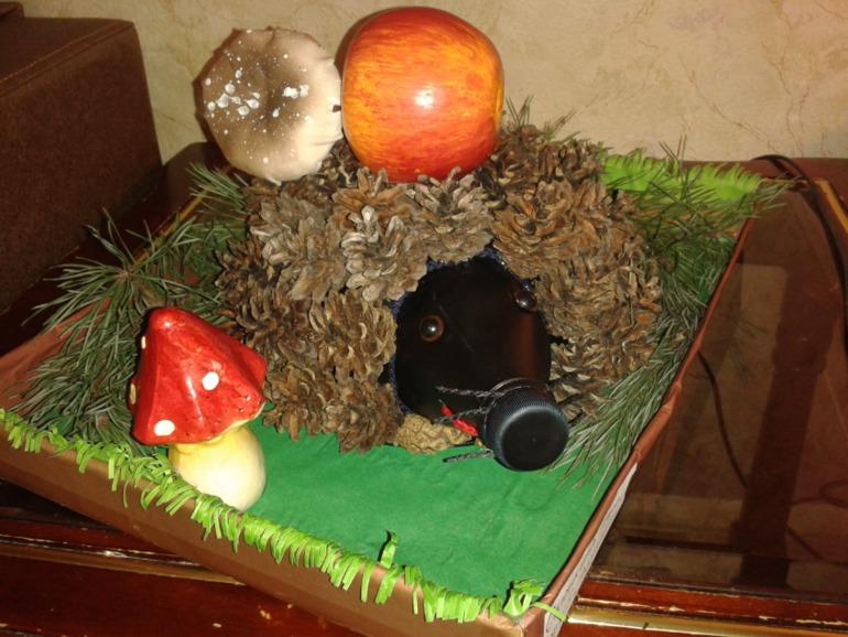 Осенние поделки в садик ежики