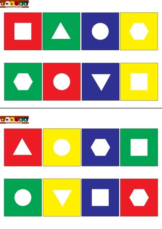 Геометрическое лото своими руками для дошкольников 3