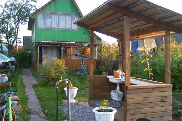 Место для мытья посуды на даче своими руками