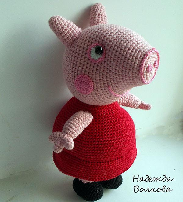 Вязанные свинки пеппа