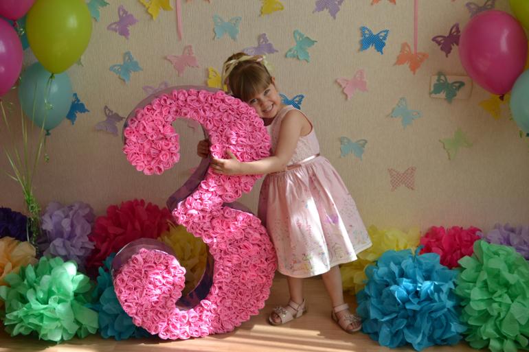 Объемная цифра 5 на день рождения своими руками