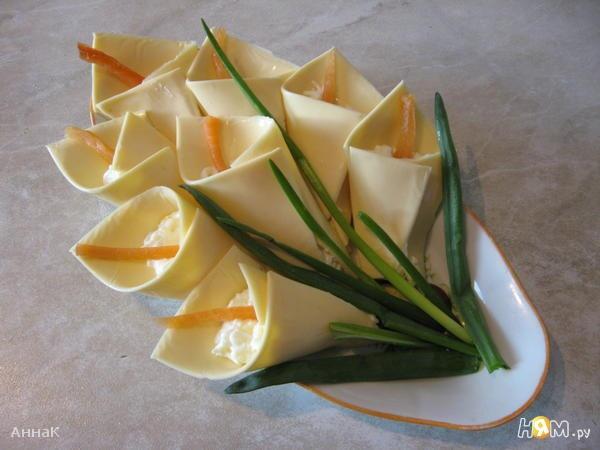 Салаты с фото оформление из сыра-коалла