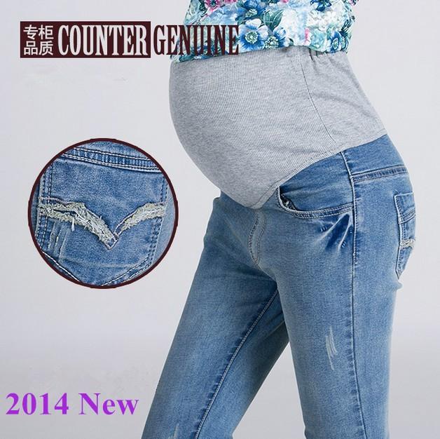 Как носить обычные джинсы беременным 85