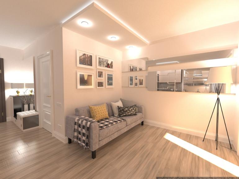 фото дизайн гостиной без окон
