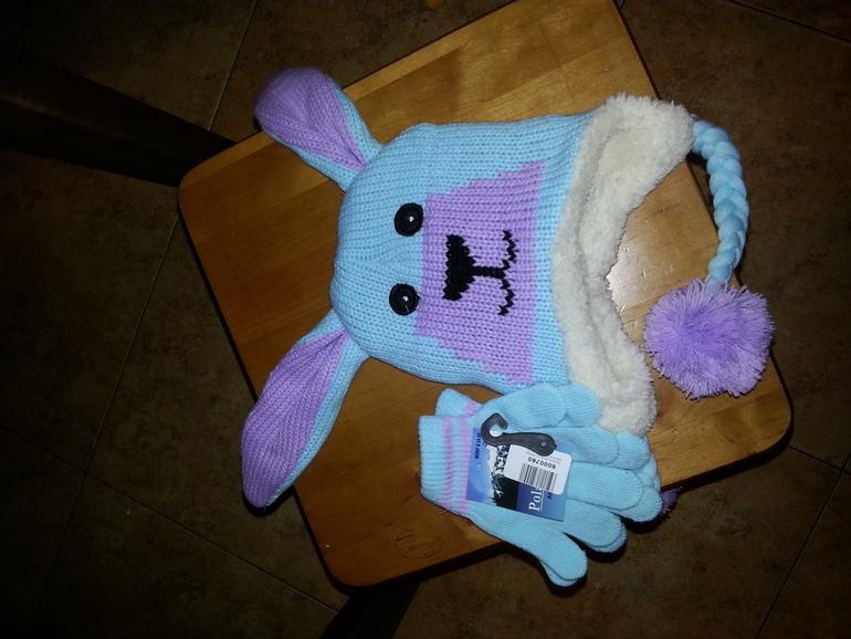 шапочка и перчатки для девочки