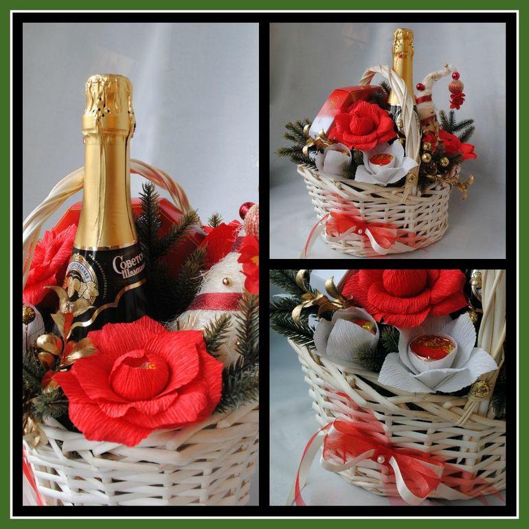 Подарок из конфет с шампанским своими руками 319