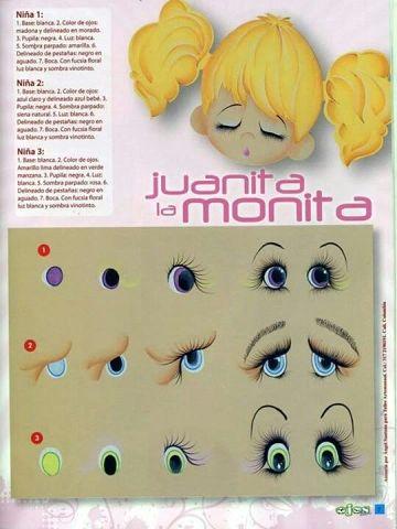 как рисовать глазки для кукол