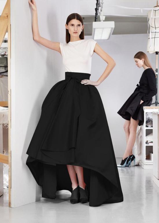 Юбки и платья французской длины