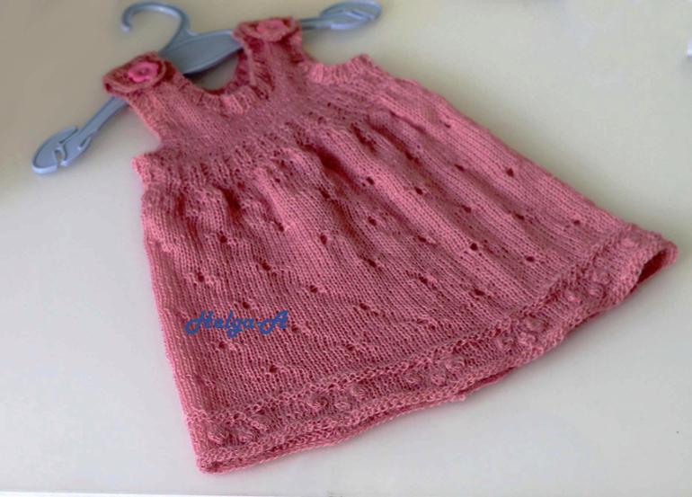 Вязание спицы новорожденным сарафан