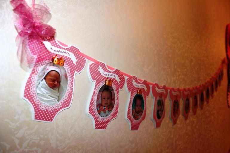 Растяжки на день рождения своими руками для девочки 2