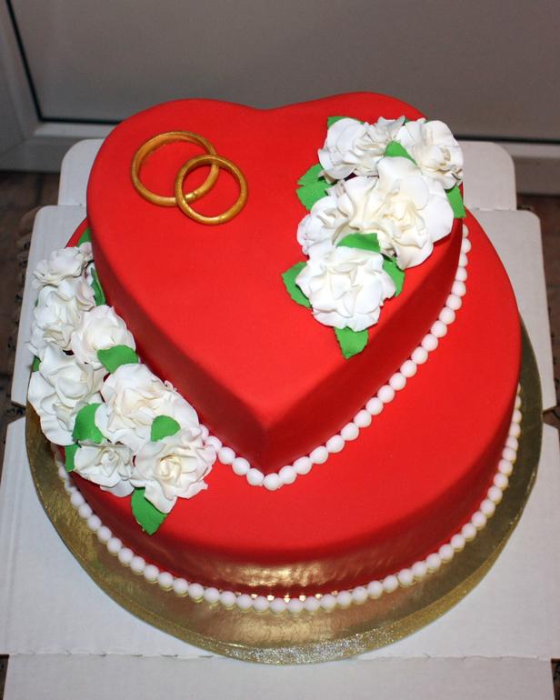Красный свадебный
