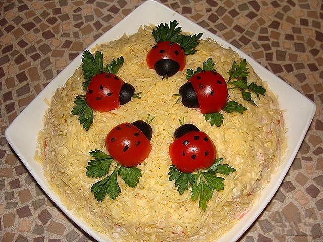 Фото рецептов украшение салатов с