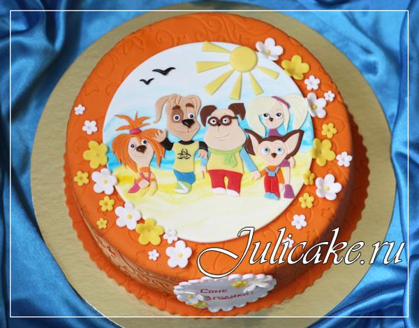торт барбоскины фото из крема