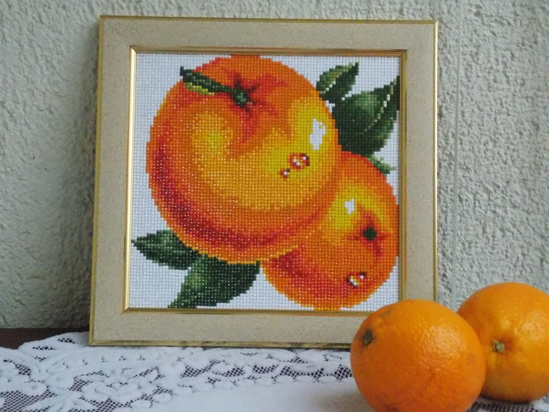 Алмазная вышивка апельсин