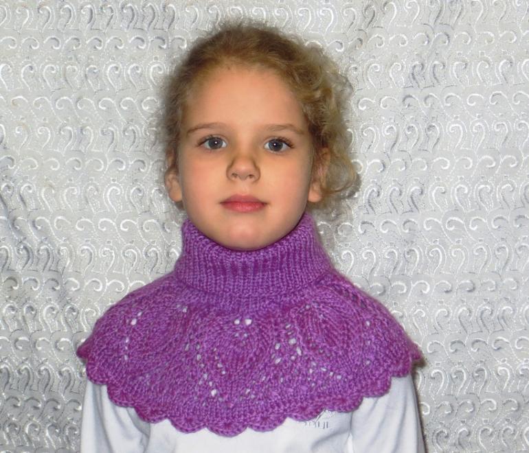 Манишка на 5 лет вязание