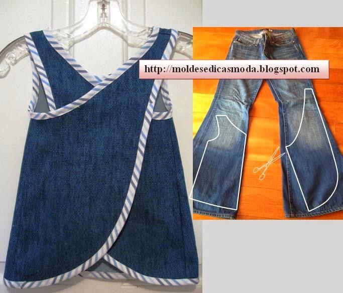 Шьем платье из джинс