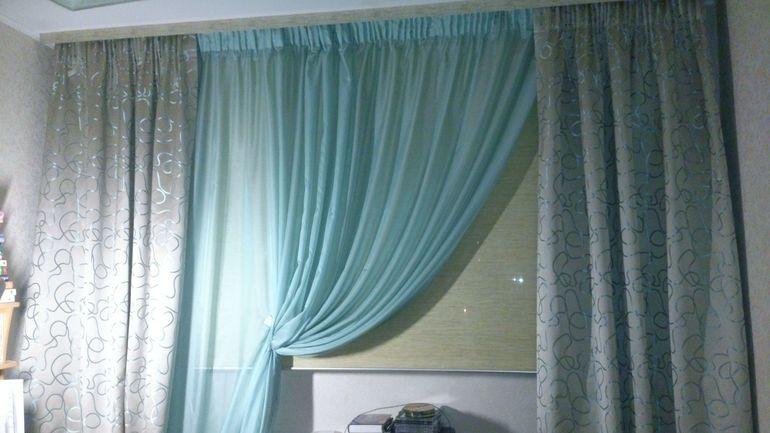 Цвет тиффани шторы