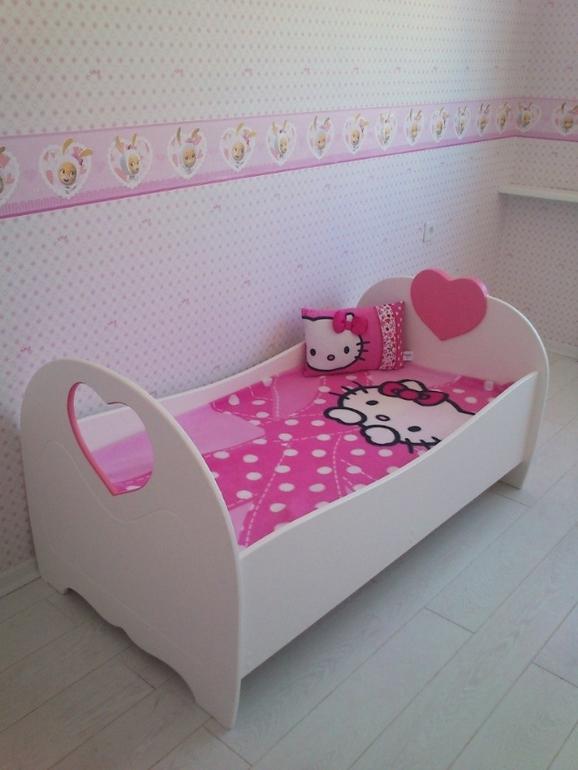 Как сделать кровать для девочки своими руками с